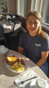 Enjoying my birthday at America's Keswick. I had to take a picture of me eating french toast!